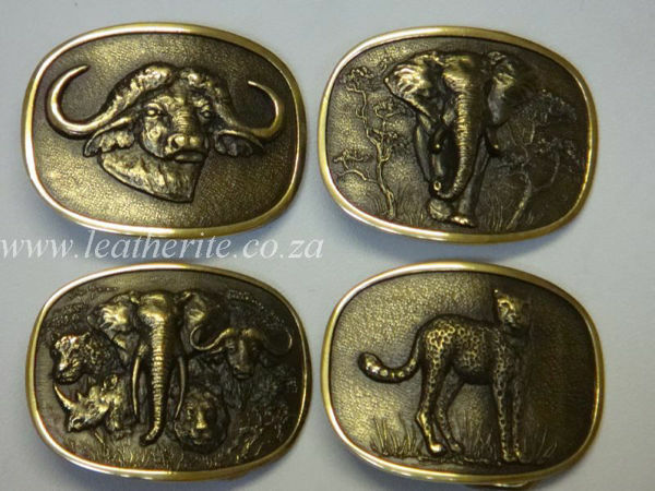 Picture of Buckle 30mm Big 5 Ass Animals (Small) Brass