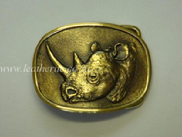Picture of Buckle Big 5 Rhino HEAD Brass 40mm