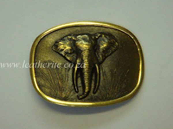 Picture of Buckle Big 5 Elephant Head Brass 40mm