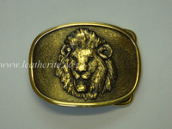 Picture of Buckle Big 5 Lion HEAD Brass 40mm