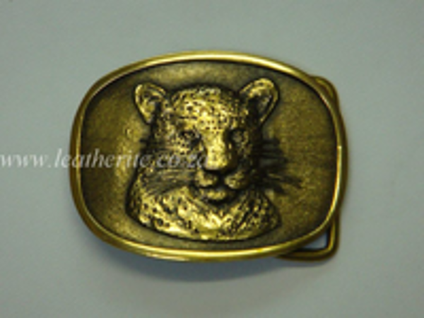 Picture of Buckle Big 5 Leopard HEAD Brass 40mm