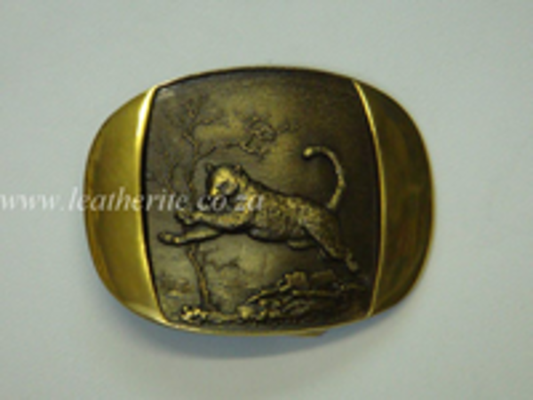 Picture of Buckle Big 5 Leopard Brass F/BODY 40mm