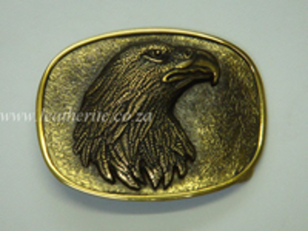 Picture of Buckle Eagle head 40mm Brass LARGE
