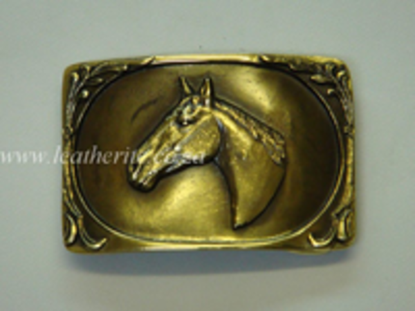Picture of Buckle Horse Head 40mm Brass LARGE