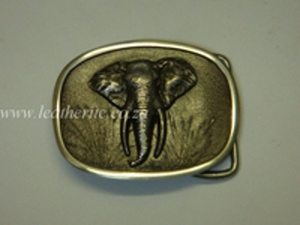 Picture of Buckle Big 5 Elephant HEAD Aluminium 40mm MEDIUM