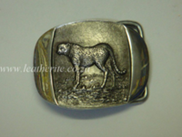 Picture of Buckle Big 5 Cheetah Standing 40mm Aluminium