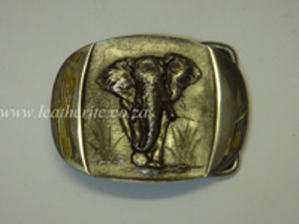 Picture of Buckle Big 5 Elephant Full Body 40mm Aluminium MED