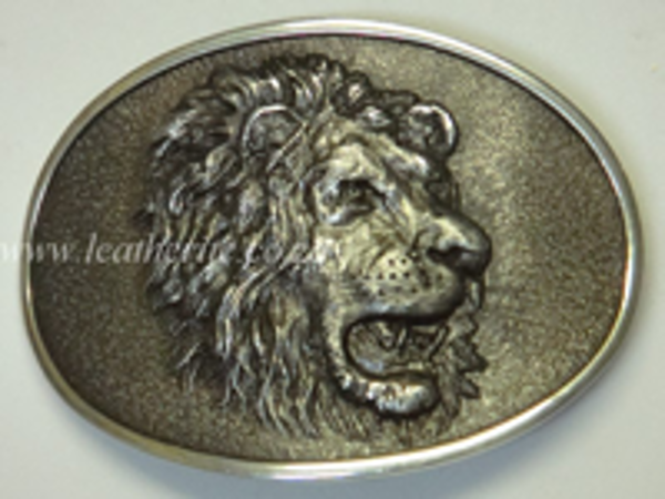 Picture of Buckle Oval Lion Head 40mm Aluminium