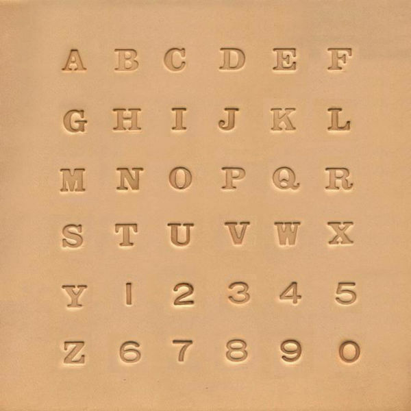 """Picture of Alphabet & Number Stamp set 1/4"""" #8134"""