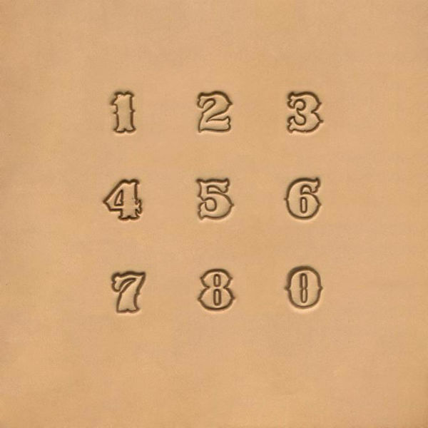 "Picture of Number Stamp Set  Standard 1/2"" #8136"