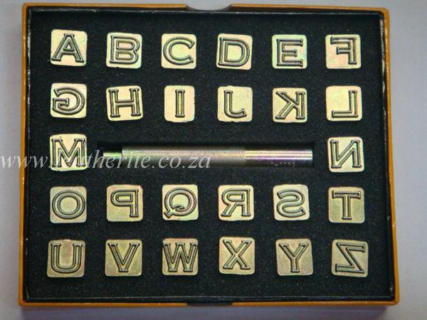 "Picture of Alphabet Stamp Set 1/2"" #8143"