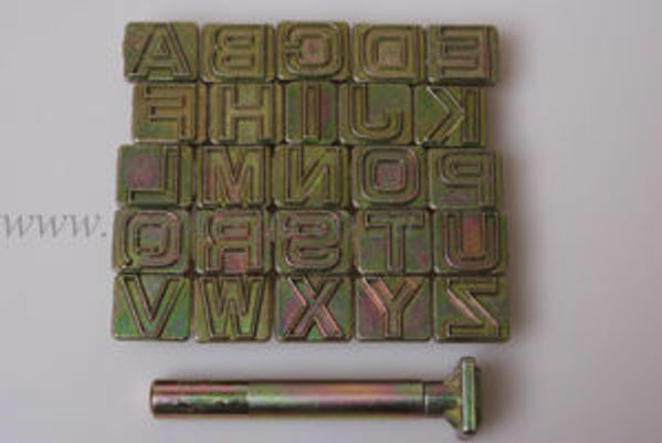 "Picture of Alphabet Stamp Set 3/4"" #8141"
