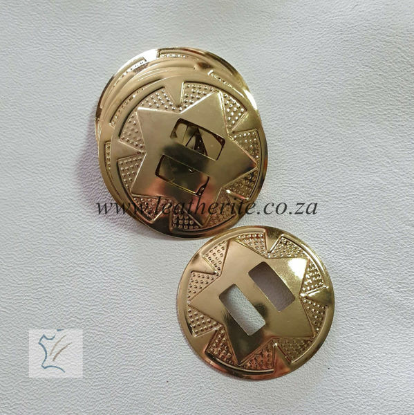 Picture of Slotted Star Concho 1319-12 BRASS