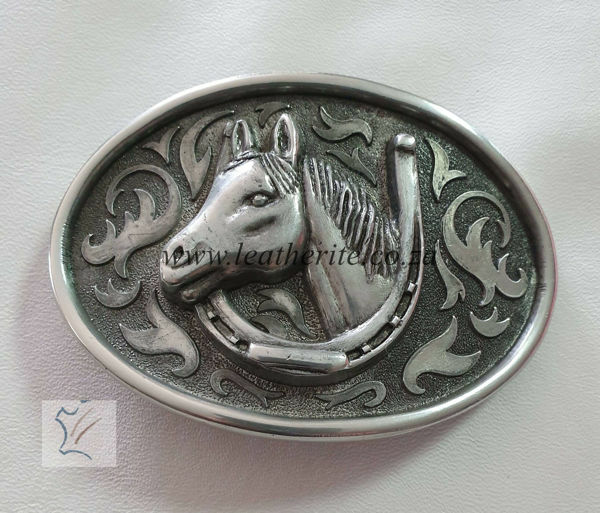 Picture of Buckle Horse Head Large Oval Alum