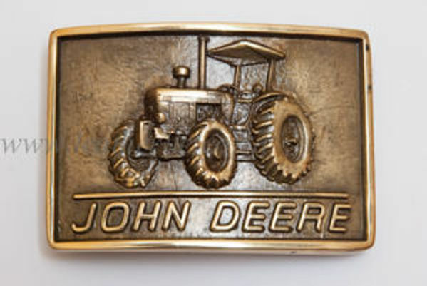 Picture of Buckle John Deere Brass Rectangular 38mm