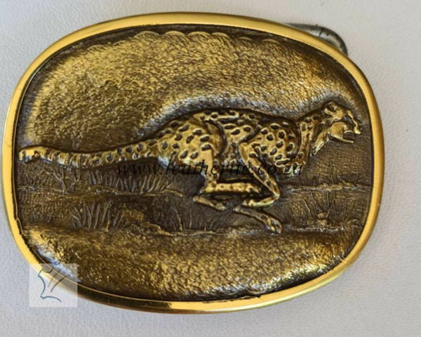Picture of Buckle Cheetah Running Brass MED