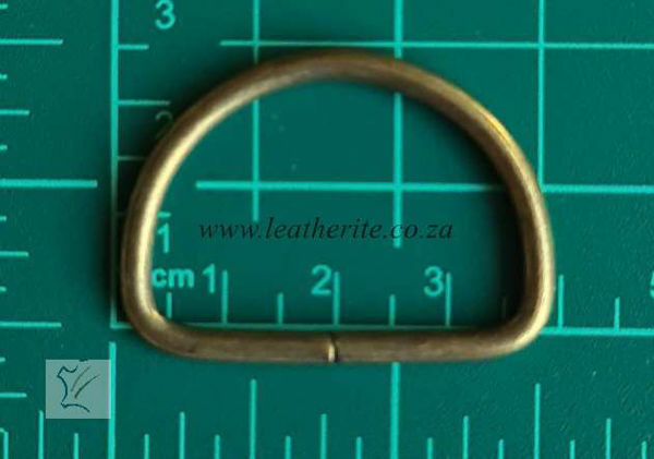 Picture of D-Ring  Unwelded Ant Brass 32mm HC13k