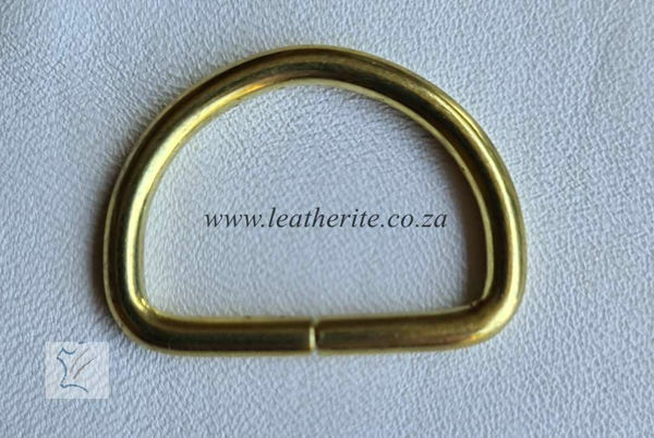 Picture of Economy D Ring 1166-01 25mm Gilt