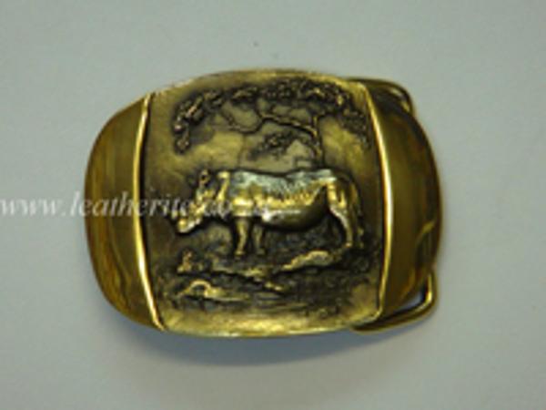 Picture of Buckle Big 5 Rhino Brass F/BODY 40mm