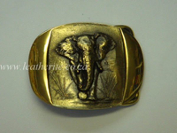 Picture of Buckle Big 5 Elephant Brass F/BODY 40mm