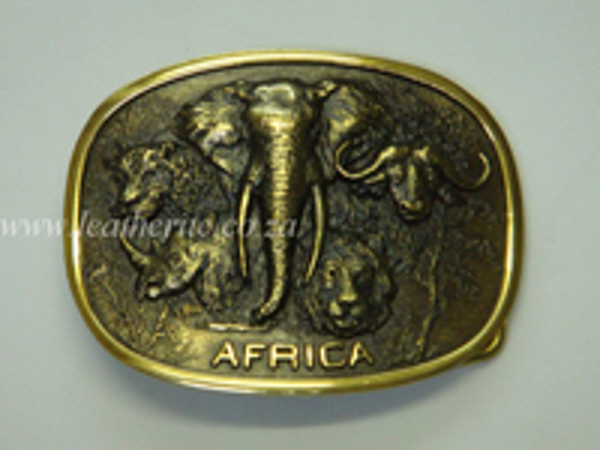 Picture of Buckle Big 5 All in One 40mm LARGE Brass
