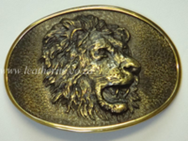 Picture of Buckle Oval Lion Head Brass 40mm