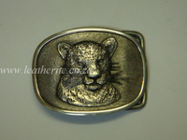 Picture of Buckle Big 5 Leopard Head 40mm Aluminium MEDIUM