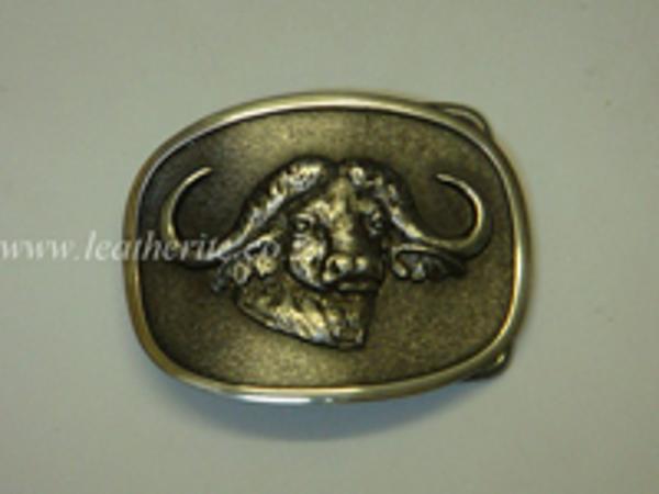 Picture of Buckle Big 5 Buffalo Head 40mm Aluminium MEDIUM