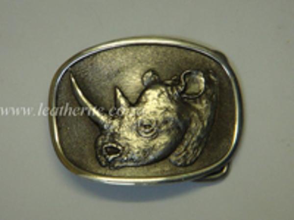 Picture of Buckle Big 5 Rhino Head 40mm Aluminium MEDIUM