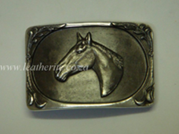 Picture of Buckle Horse Head 40mm Aluminium LARGE