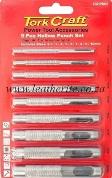 Picture of Punch Set 9 Piece Carbon Steel TCHP009